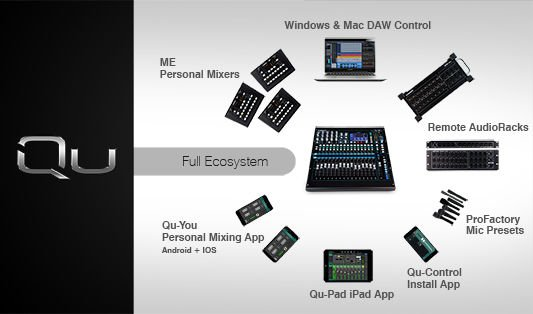 Allen & Heath Qu-16 Chrome Edition Digital Mixer | Sweetwater