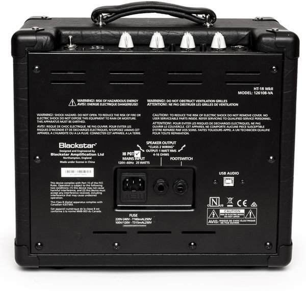 blackstar ht1r mkii 1 watt 1x8 tube combo amp with reverb sweetwater. Black Bedroom Furniture Sets. Home Design Ideas