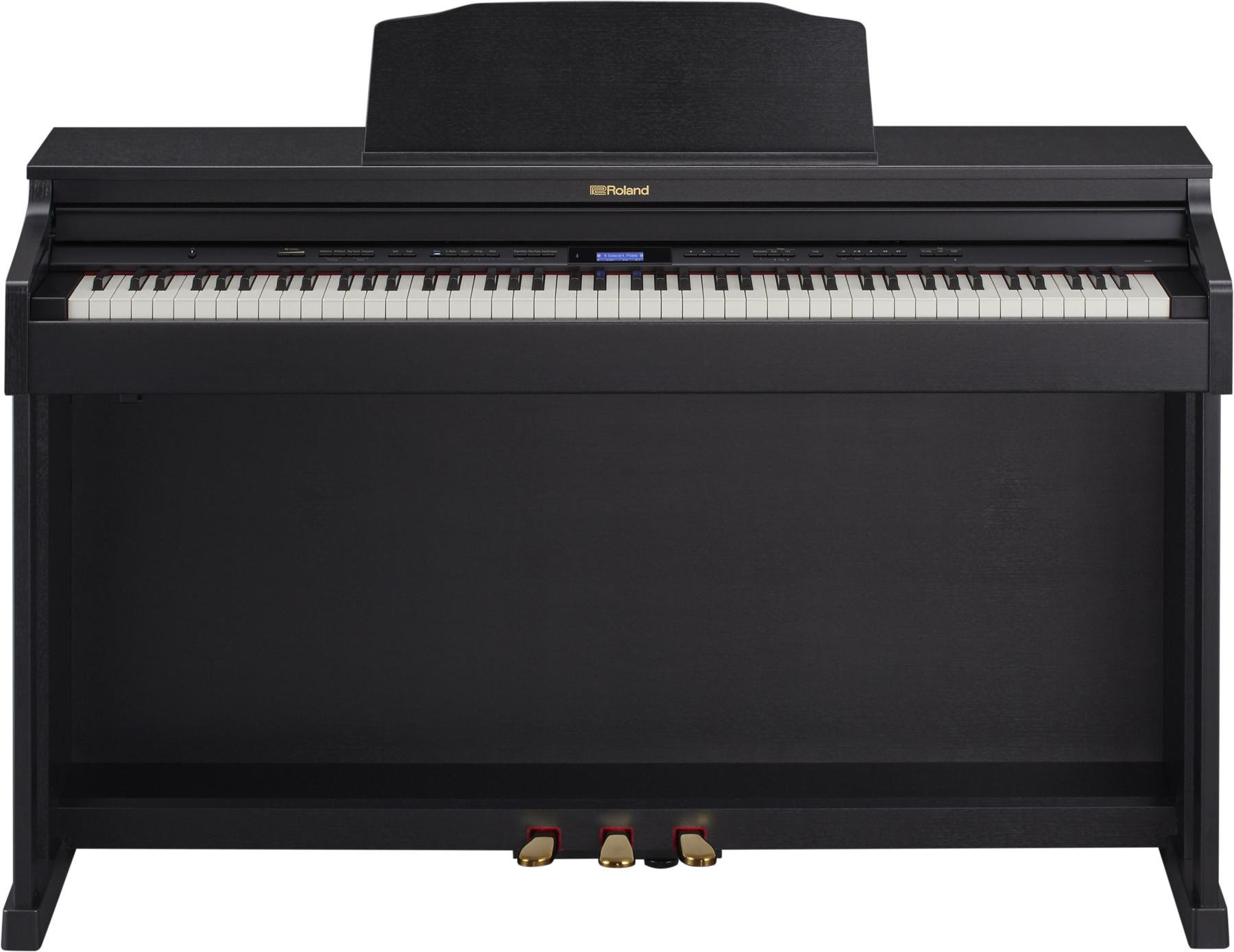 Roland HP601 Home Digital Piano Black Finish image 1