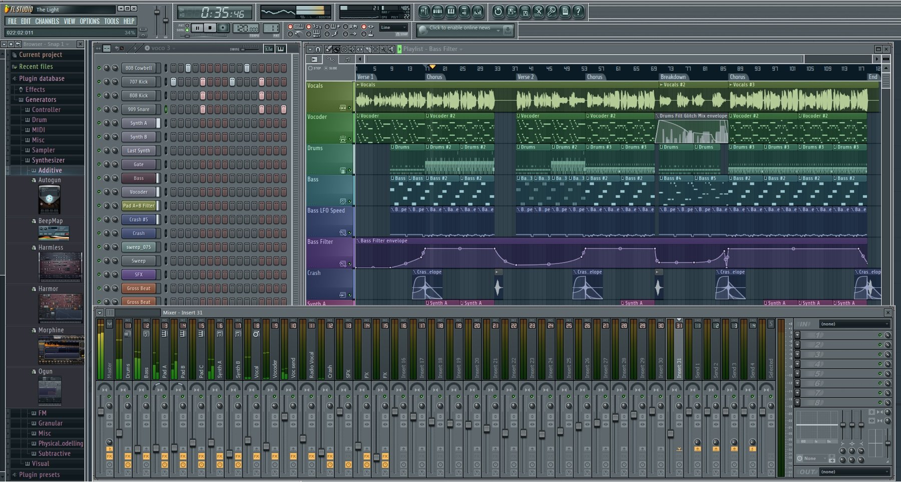 fl studio fruity edition audio recording