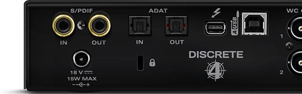 antelope audio discrete 4 microphone preamp and thunderbolt usb interface sweetwater. Black Bedroom Furniture Sets. Home Design Ideas