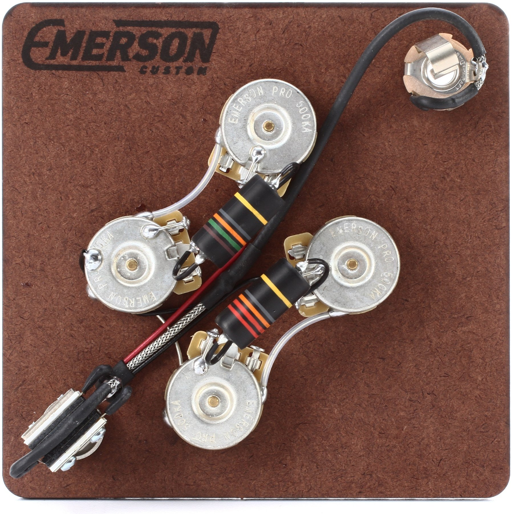 Emerson Custom Prewired Kit For Gibson Sg Guitars Sweetwater Guitar Wiring Harness Pickup Volume Tone 3way Switch Jack Image 1