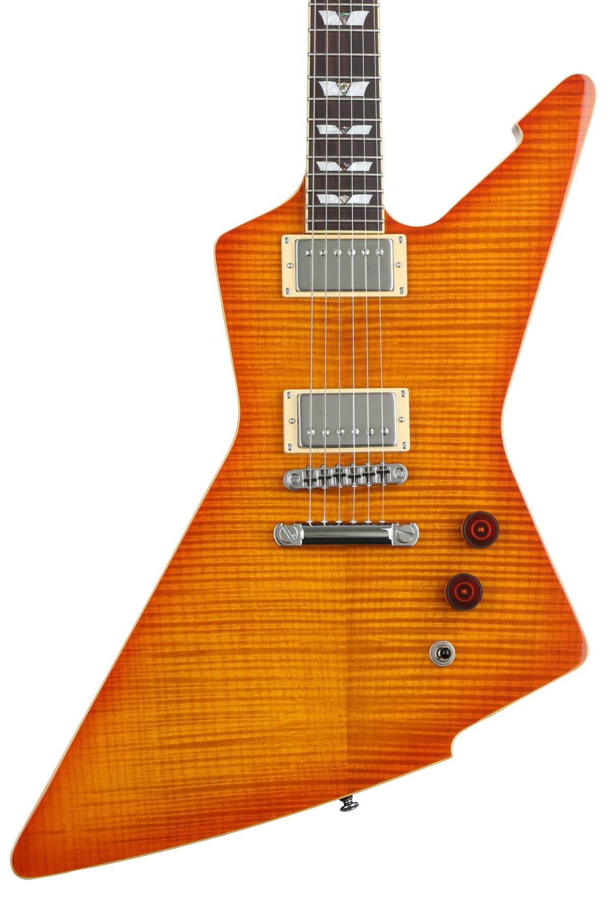 Schecter E 1 Standard Honeyburst Sweetwater Humbuckers 3way Toggle Switch Volume Tone Coil Tap Reverse Image