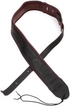 Martin Garment Leather Guitar Strap - Maroon and Black