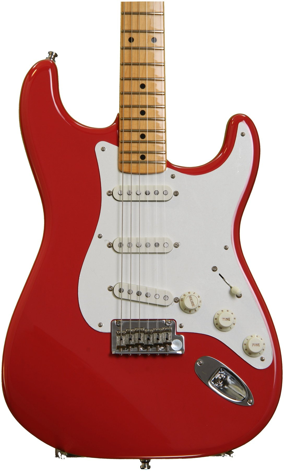 fender vintage hot rod 50s stratocaster fiesta red sweetwater rh sweetwater com
