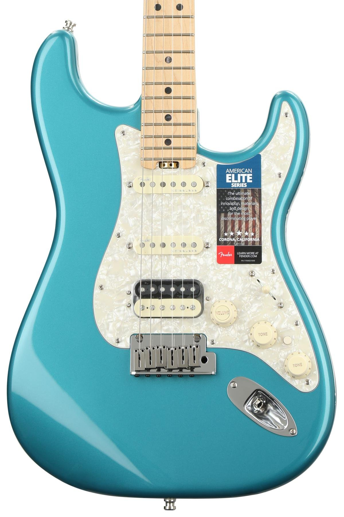 Fender American Elite Stratocaster HSS Shawbucker - Ocean Turquoise ...