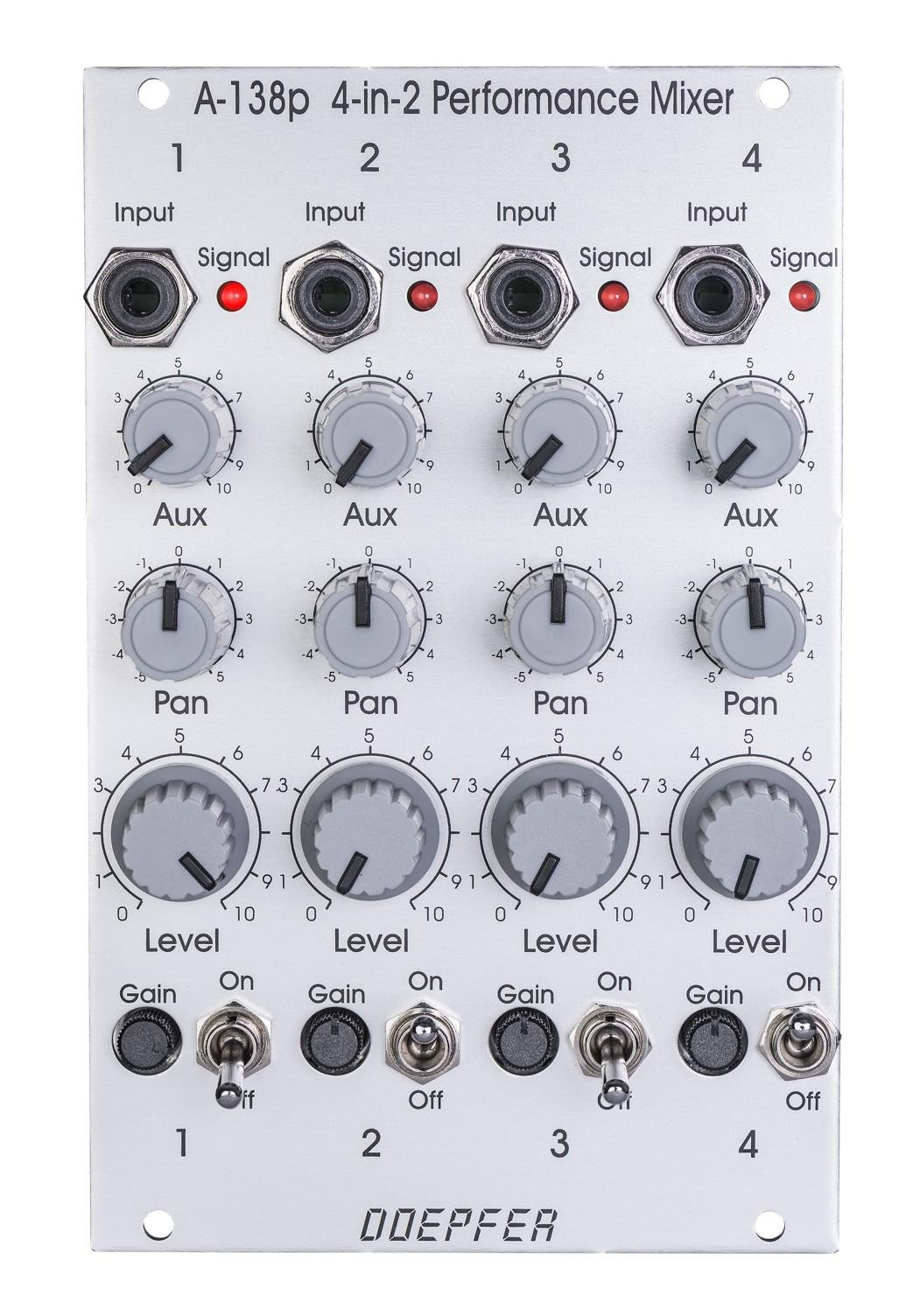 Doepfer A 138p Eurorack Performance Mixer Input Module Sweetwater Modular Audio With Multiple Channels Image 1