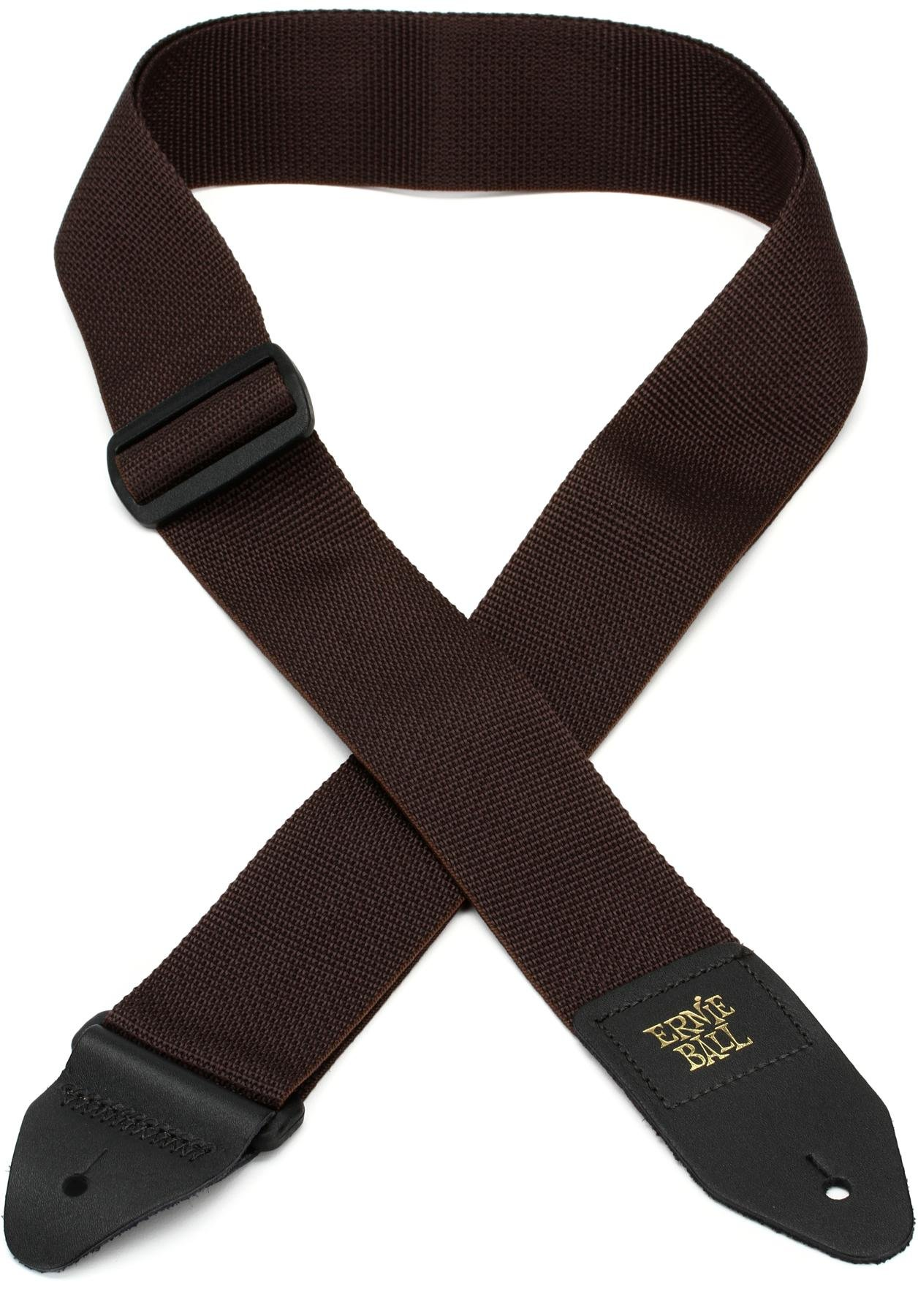 Ernie Ball Brown Polypro Guitar Guitar Strap