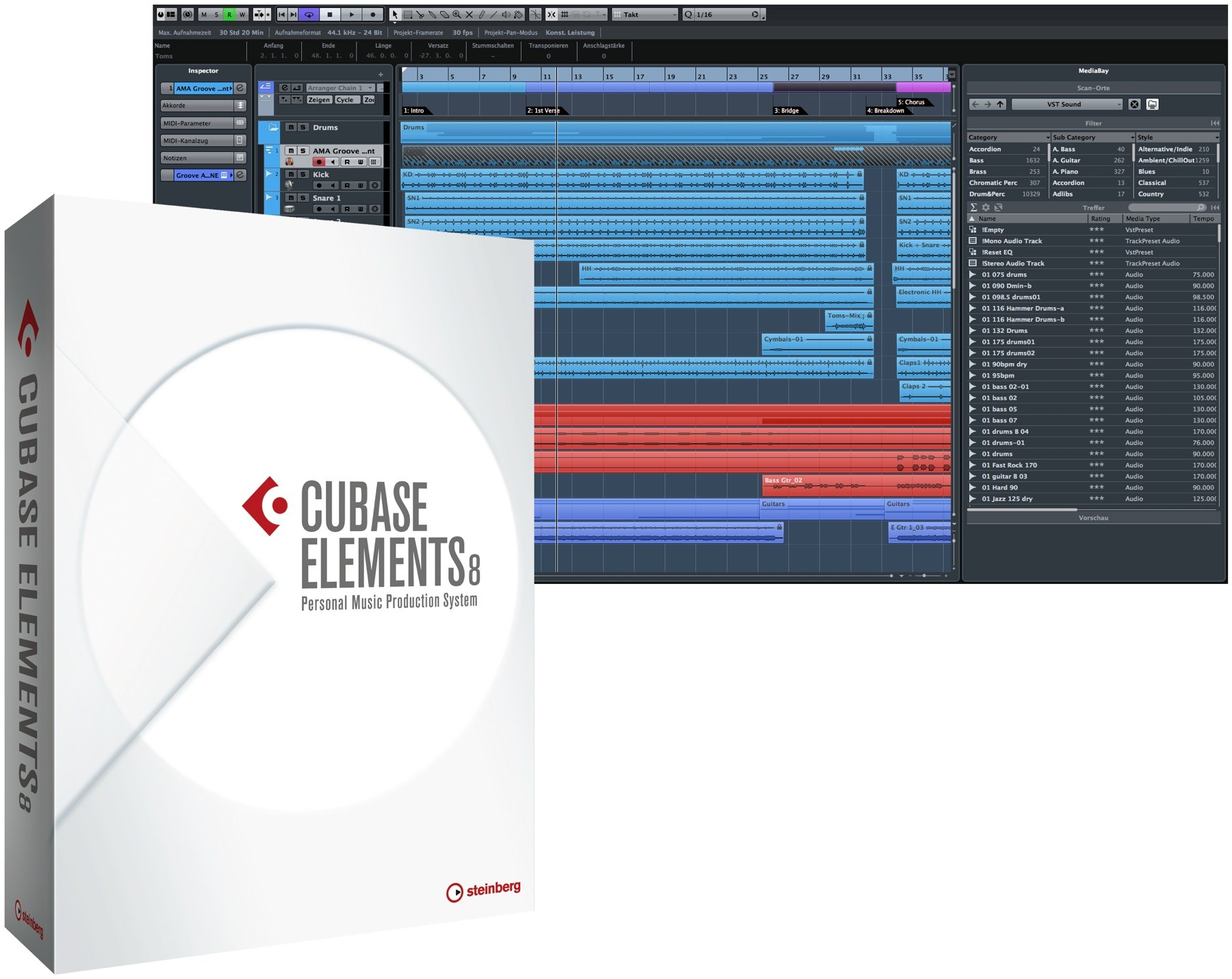 Steinberg Cubase Elements 8 Educational Edition (download