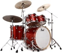 Pearl Music City Custom Reference Series Shell Pack - 4-piece - Burnt Orange Glass