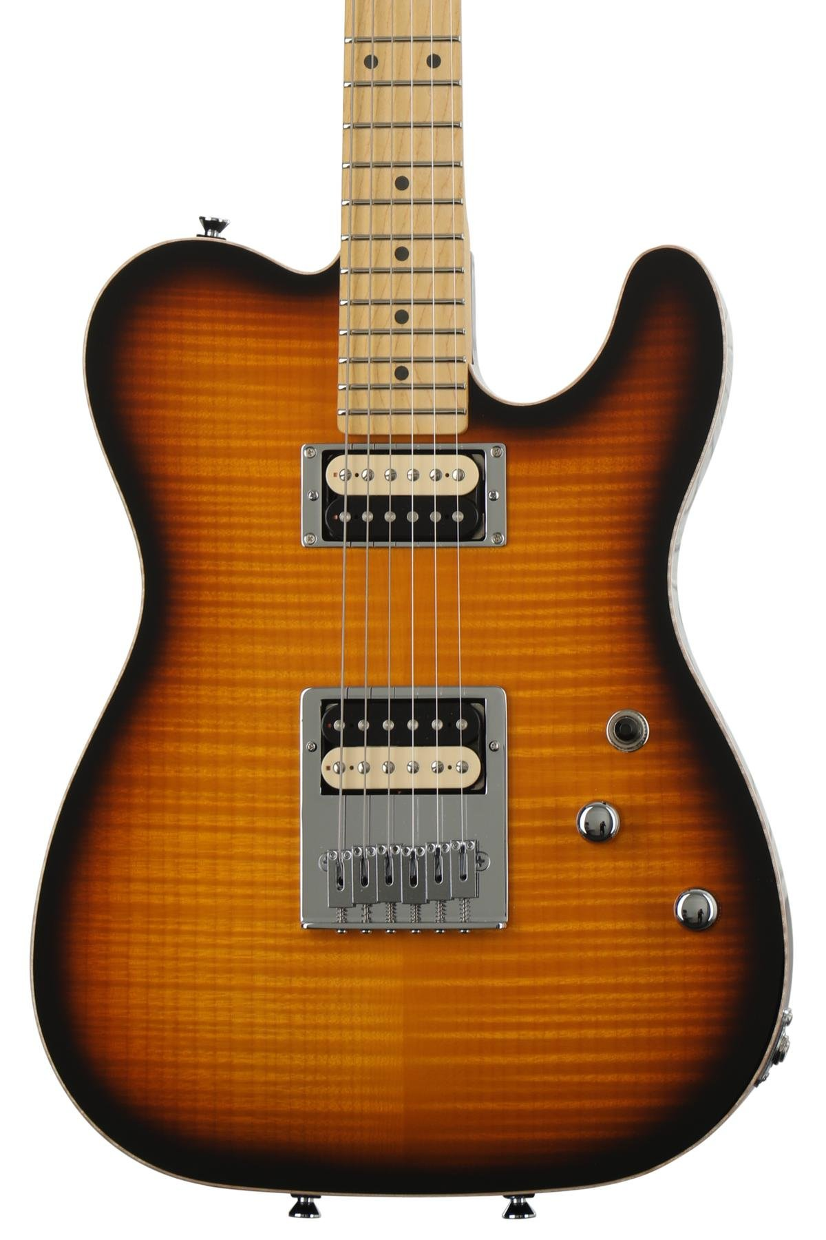 Schecter Usa Pt Custom Tobacco Sunburst Sweetwater Humbuckers 3way Toggle Switch 2 Volumes 1 Tone Coil Tap Series Image
