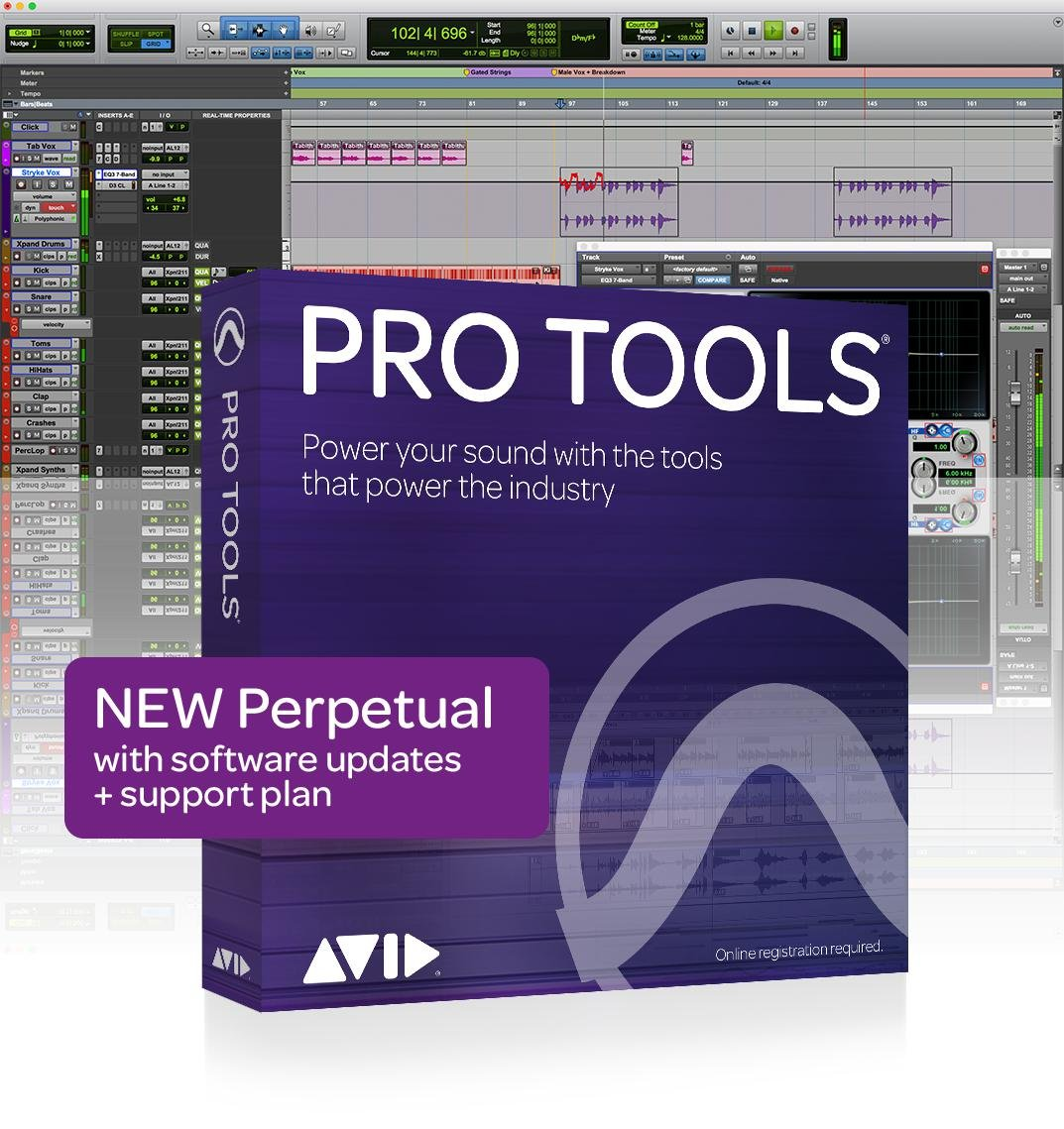 Avid Pro Tools with 1-Year of Updates + Support Plan Perpetual
