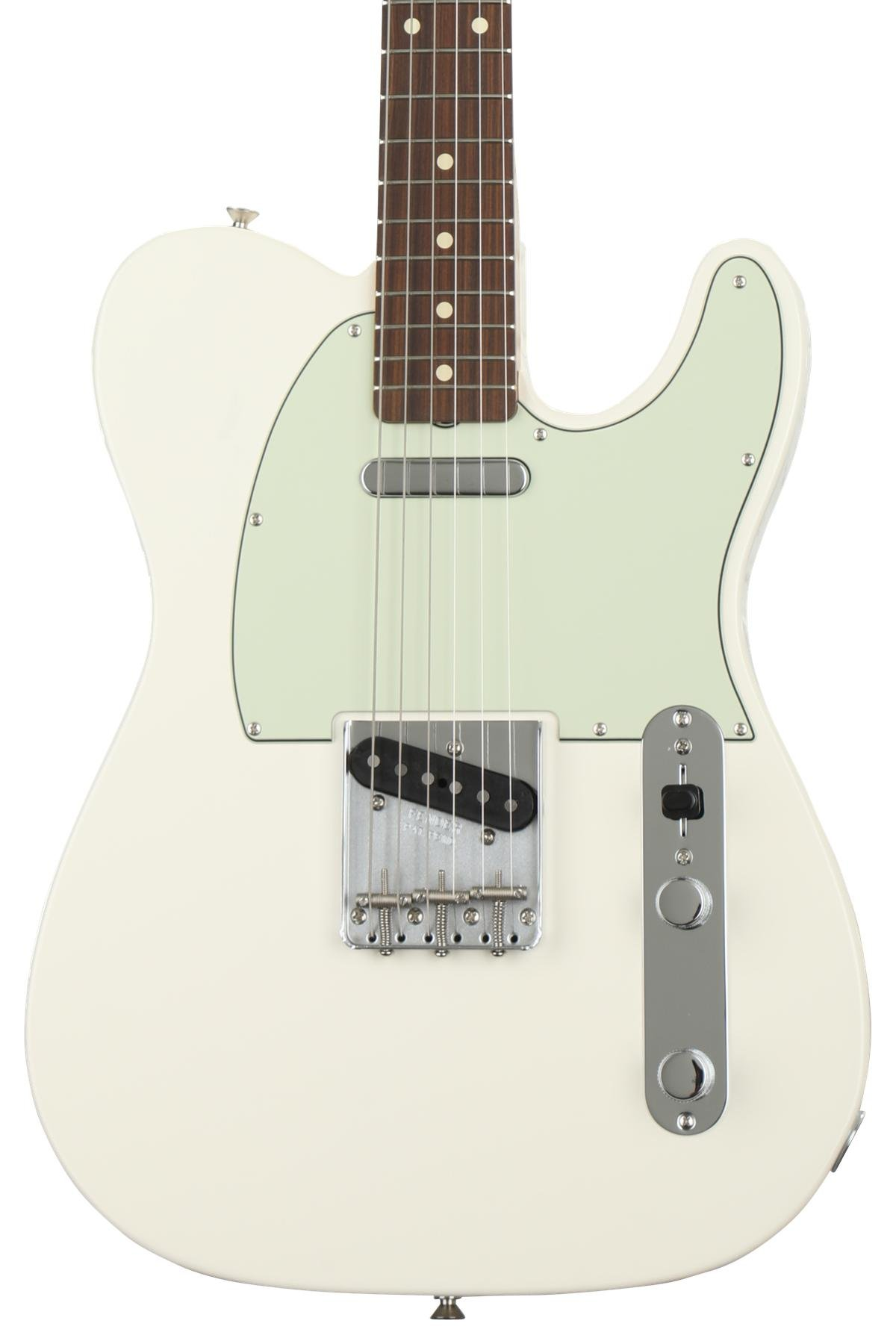 Fender Classic 60s Telecaster Olympic White W Pau Ferro Fingerboard Image 1