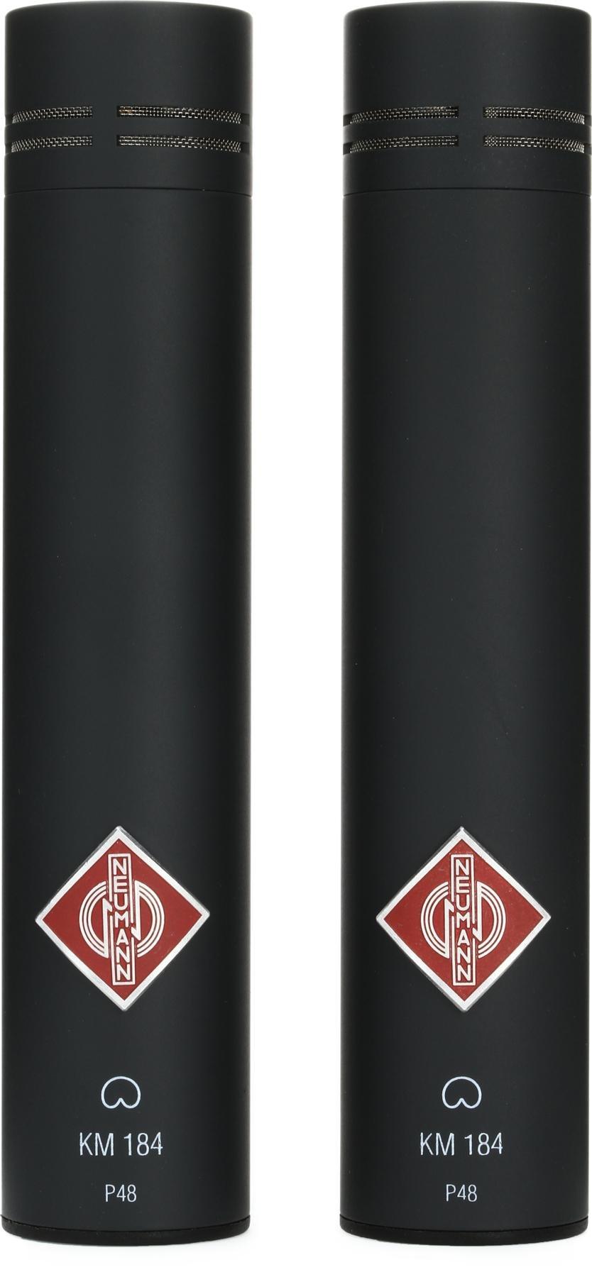 Neumann KM 184 Stereo Set Small-diaphragm Cardioid Microphones - Matte  Black image 1