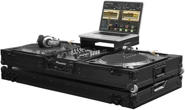 Odyssey FZGSLBM10WBL Universal Turntable DJ Coffin Features: