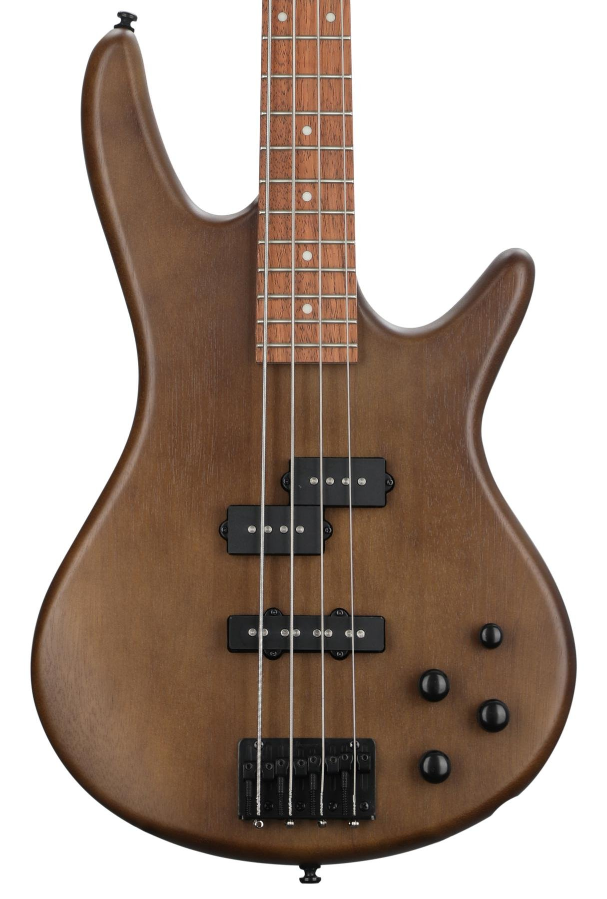 Walnut Flat Ibanez GSR 4 String Bass Guitar Left GSR200BLWNF