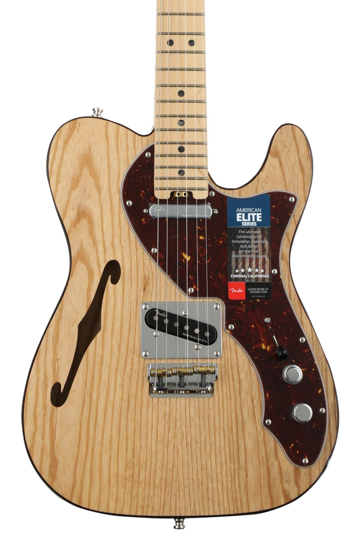 Fender American Elite Telecaster Thinline Natural W Maple Tele 4 Way Switch Problems Fingerboard Image 1