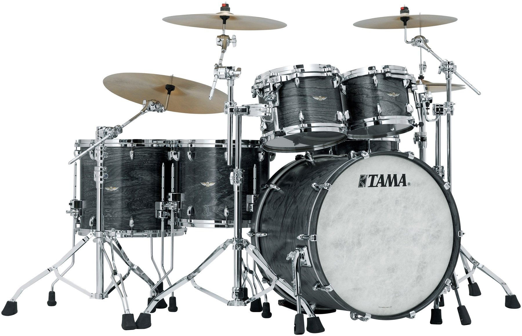 Tama Star Walnut 5 Piece Shell Pack Satin Charcoal Anese Sen
