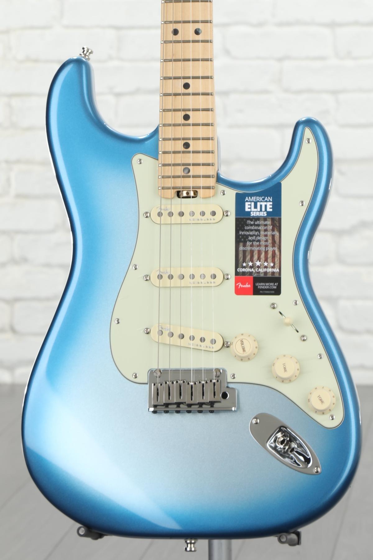 Fender American Elite Stratocaster Sky Burst Metallic W Maple Re Switching Options For P90 Humbucker Combination Fingerboard Image 1