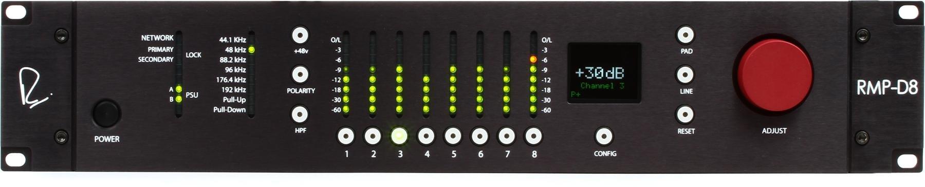 Rupert Neve Designs Rmp D8 Dante Remote Control Microphone Preamp Lowvoltagemicrophonepreamp Preamplifier Audiocircuit Image 1