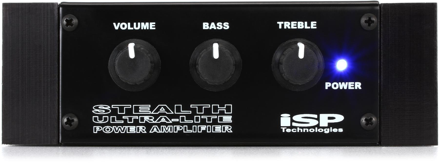 Isp Technologies Stealth 180 Watt Pedalboard Power Amp With Rack Audio Mid High Amplifier Portable Speaker Ultra Lite