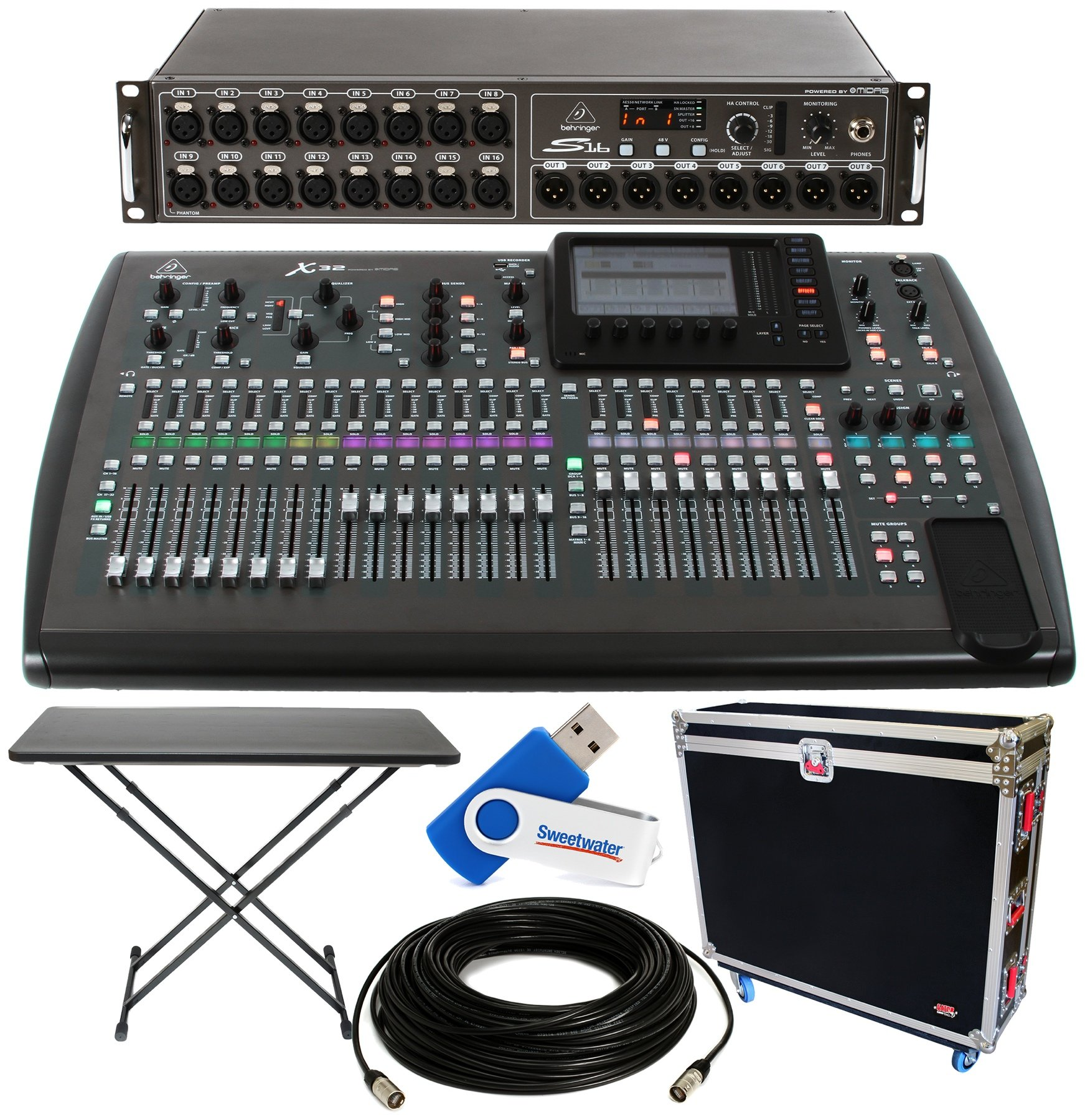 X32 Rack Live Performance Setup With S16 X32 And P16 Monitor System