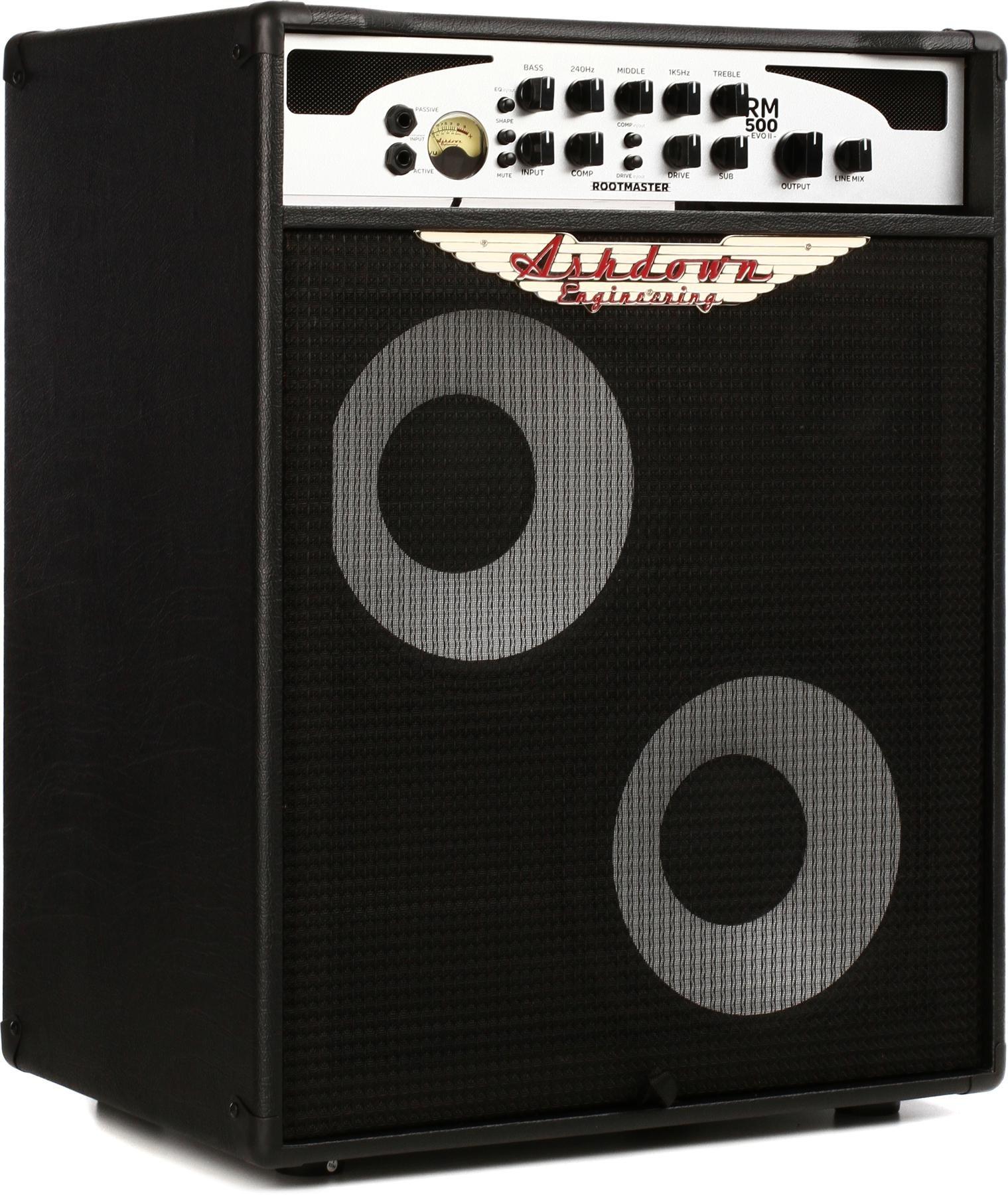 Ashdown Rootmaster Rm500c210 Evo Ii 500w 2x10 Bass Combo Sweetwater 60w Amplifier Image 1