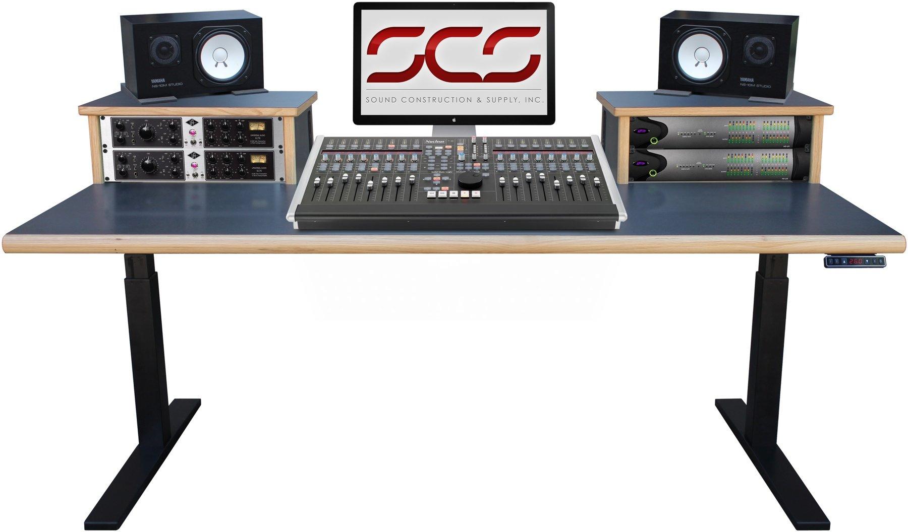 Sound Construction Scs Elevation Workstation 4x2 Studio Desk Oak Image 1