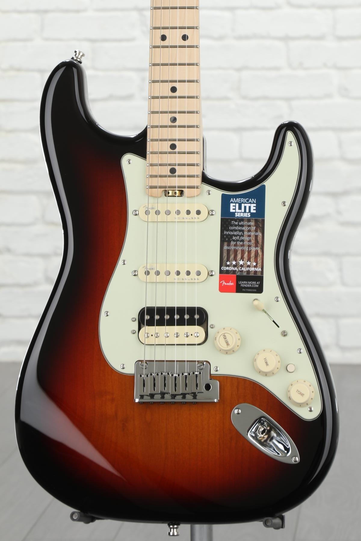 Fender American Elite Stratocaster Hss Shawbucker 3 Color Sunburst Single Coil Pickup Wiring Diagram As Well Guitar W Maple Fingerboard Image