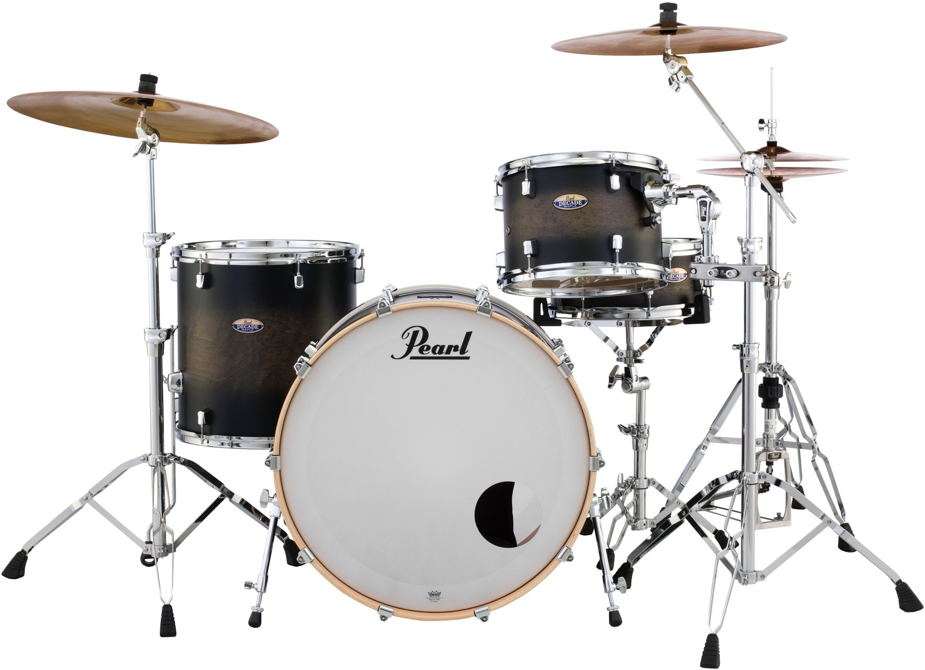 Pearl Decade Maple Dmp943xp C 3 Piece Shell Pack Satin Black Burst Sweetwater