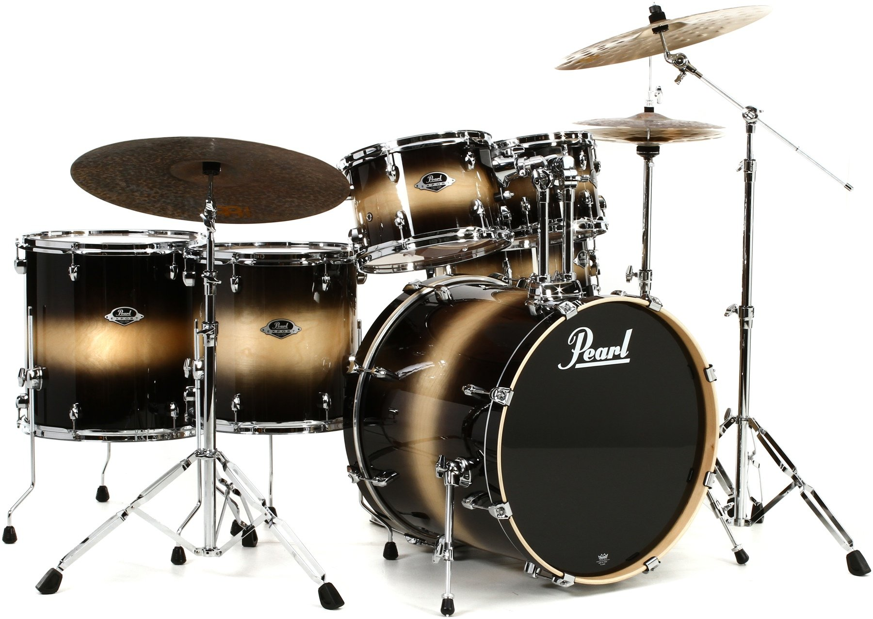 Pearl Export EXL 6-piece Rock Drum Set with Hardware - Nightshade Lacquer