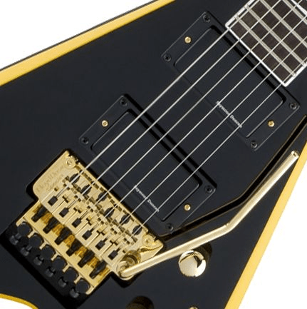 jackson rr24 x series rhoads black with yellow bevels sweetwater. Black Bedroom Furniture Sets. Home Design Ideas