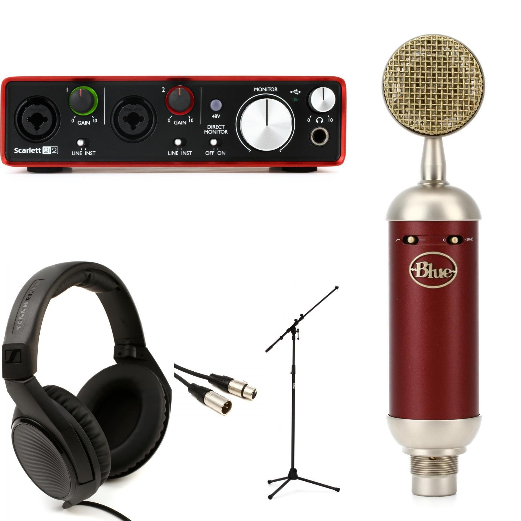 Blue Microphones Spark Sl And Scarlett Recording Package Sweetwater Electronic Integrated Circuits Popscreen Image 1