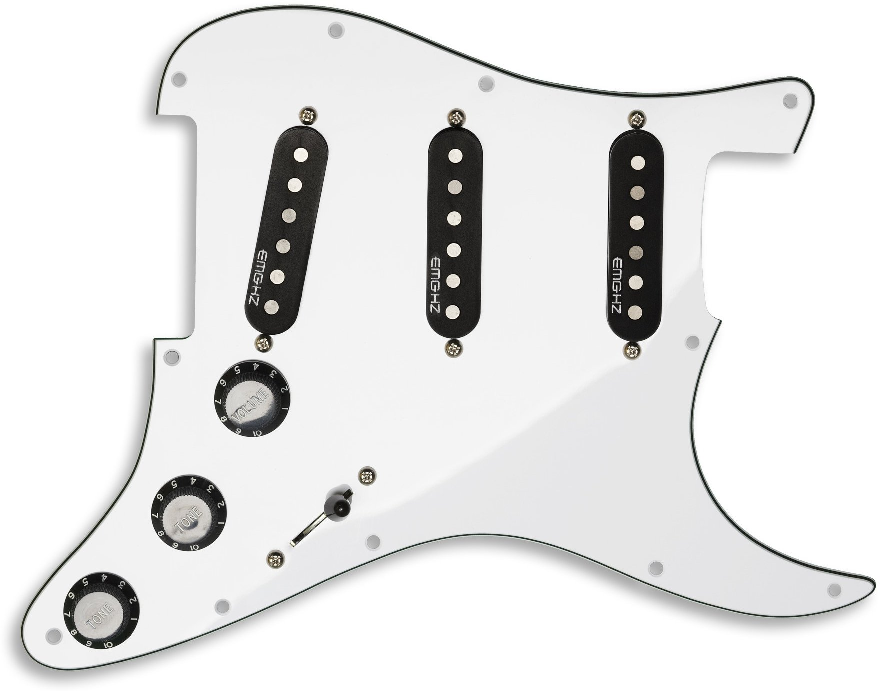 EMG ST11 Strat Style Pre-Wired Pickguard S/S/S White | Sweetwater