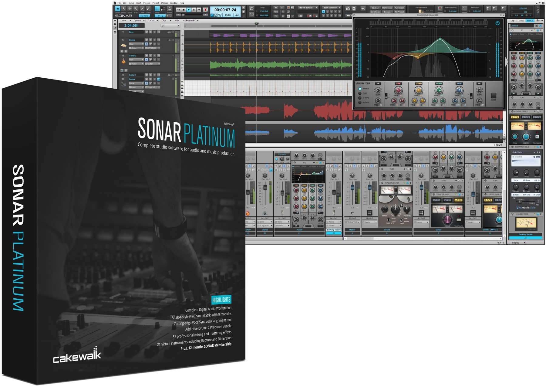 Cakewalk SONAR Artist Upgrade From Home Studio Image 1