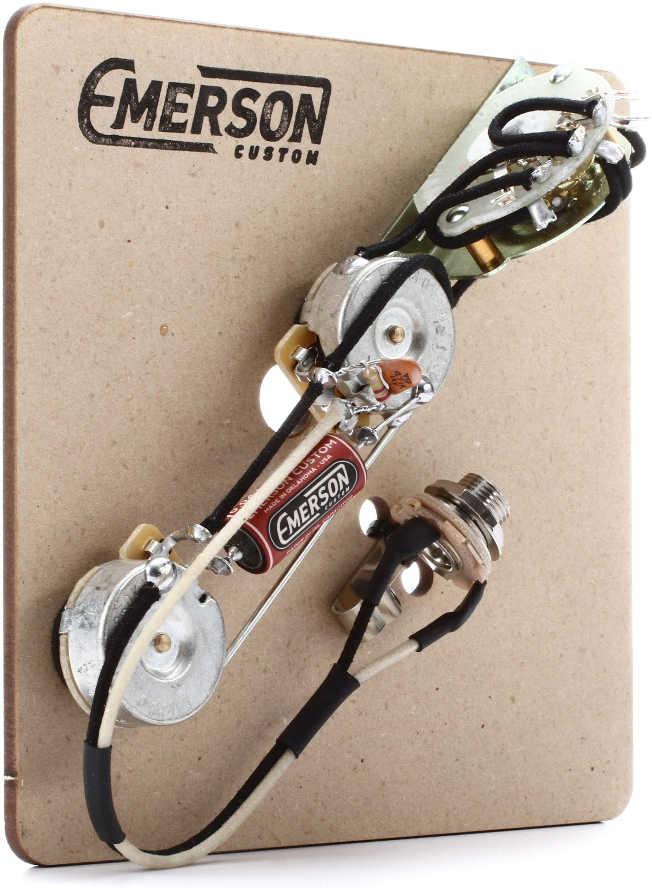 Emerson Custom 4 Way Prewired Kit For Telecaster Guitars 250k Pots 3 Tele Wiring Harness Image 1