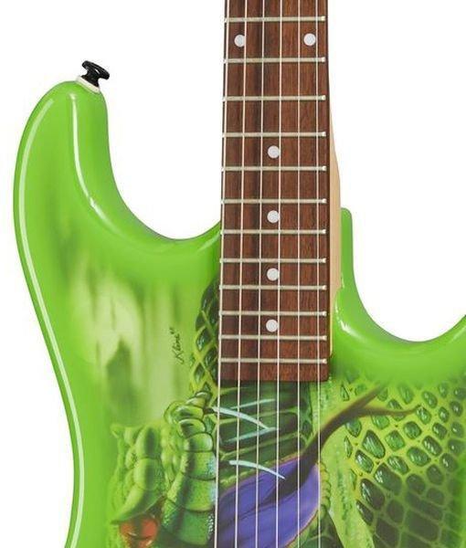 815ac4 ~edited kbvdssnbf cropped - Kramer Snake Sabo Baretta Green Guitar Reverse Headstock