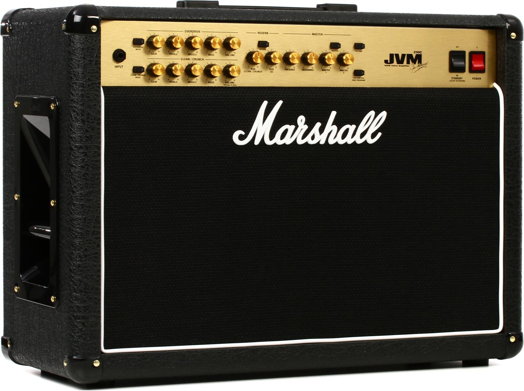 Marshall Jvm210c 100 Watt 2x12 2 Channel Tube Combo Amp Sweetwater Guitar Or Music Amplifier Home Stereo Powered Subwoofer Image 1