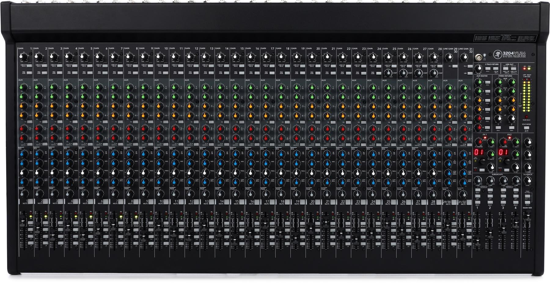 mackie 3204vlz4 mixer sweetwater rh sweetwater com mackie mix5 user guide mackie profx8 user guide