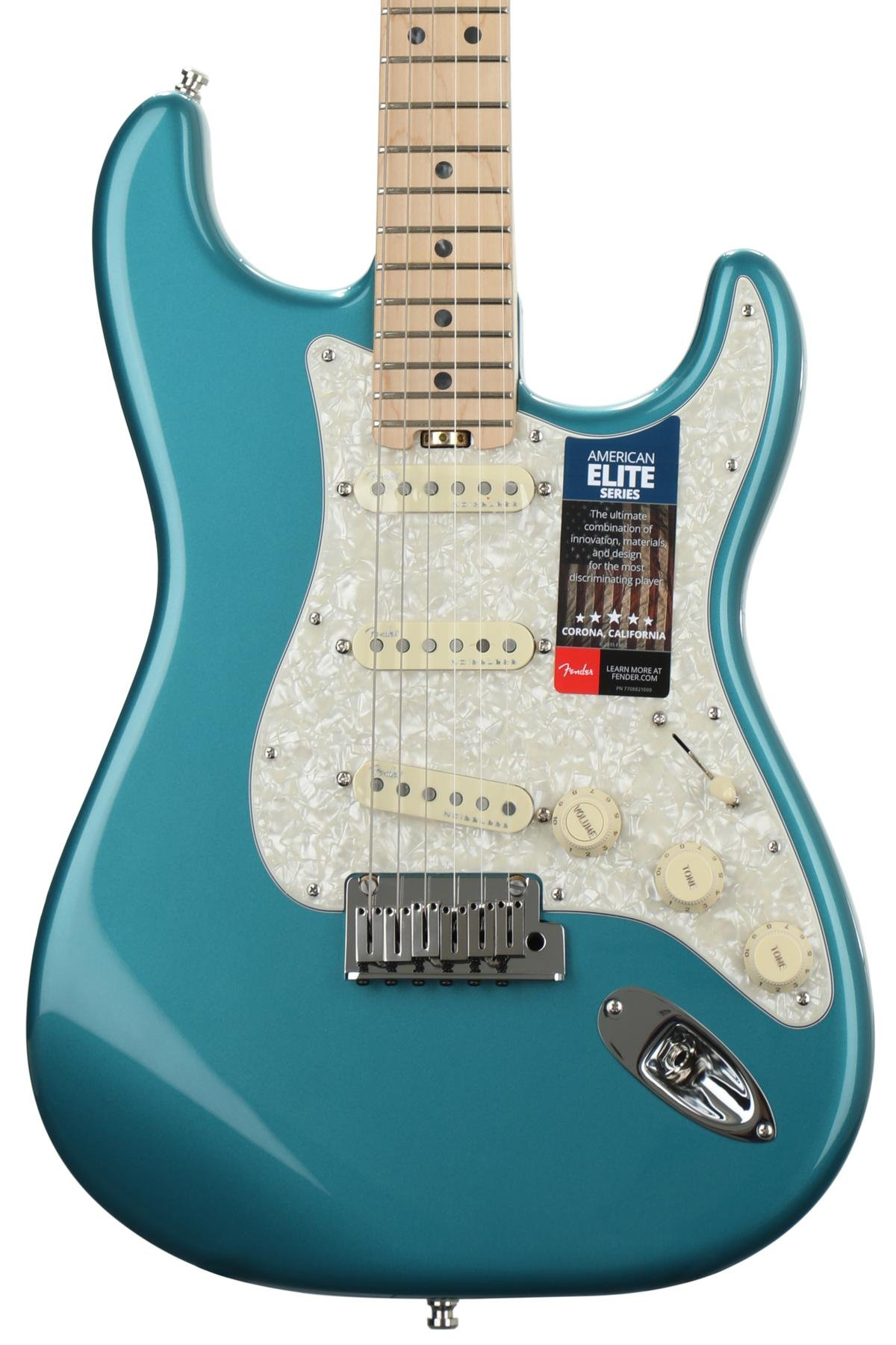 Fender American Elite Stratocaster Ocean Turquoise W Maple Telecaster 4 Way Wiring Fingerboard Image 1