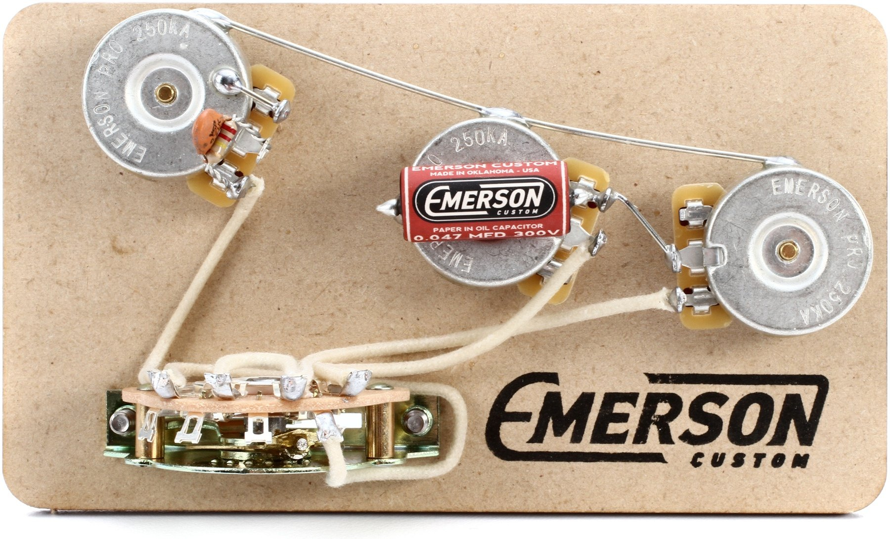 Emerson Custom 5 Way Prewired Kit For Fender Stratocasters 250k Guitar Wiring Harness Pickup Volume Tone 3way Switch Jack Pots Image 1
