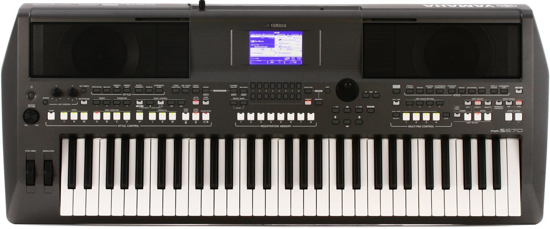 Yamaha PSR-S670 61-key Arranger Workstation | Sweetwater