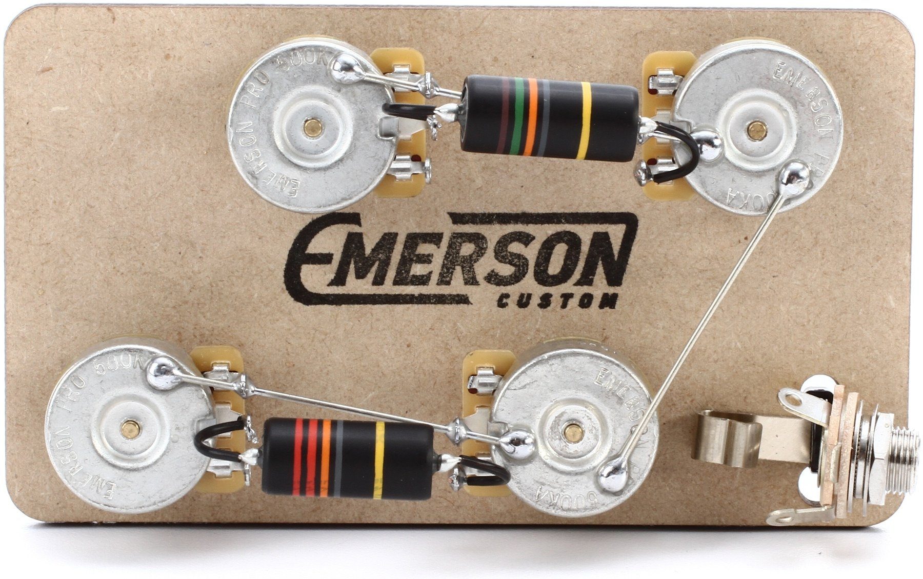 Emerson Custom Prewired Kit For Gibson Les Paul Guitars Long Shaft Double Neck Guitar Wiring Diagram Image 1