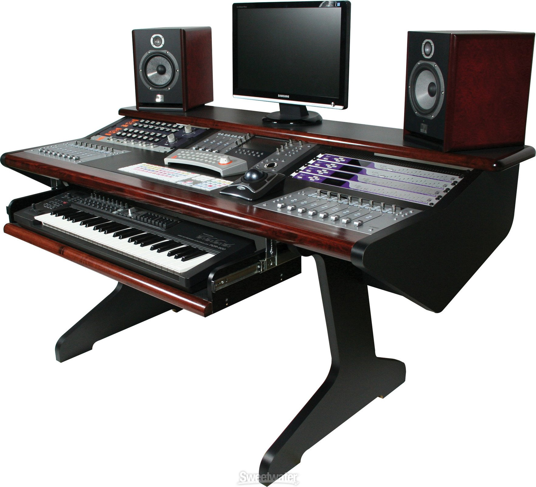 Malone Design Works MC Desk Composer - Mahogany image 1