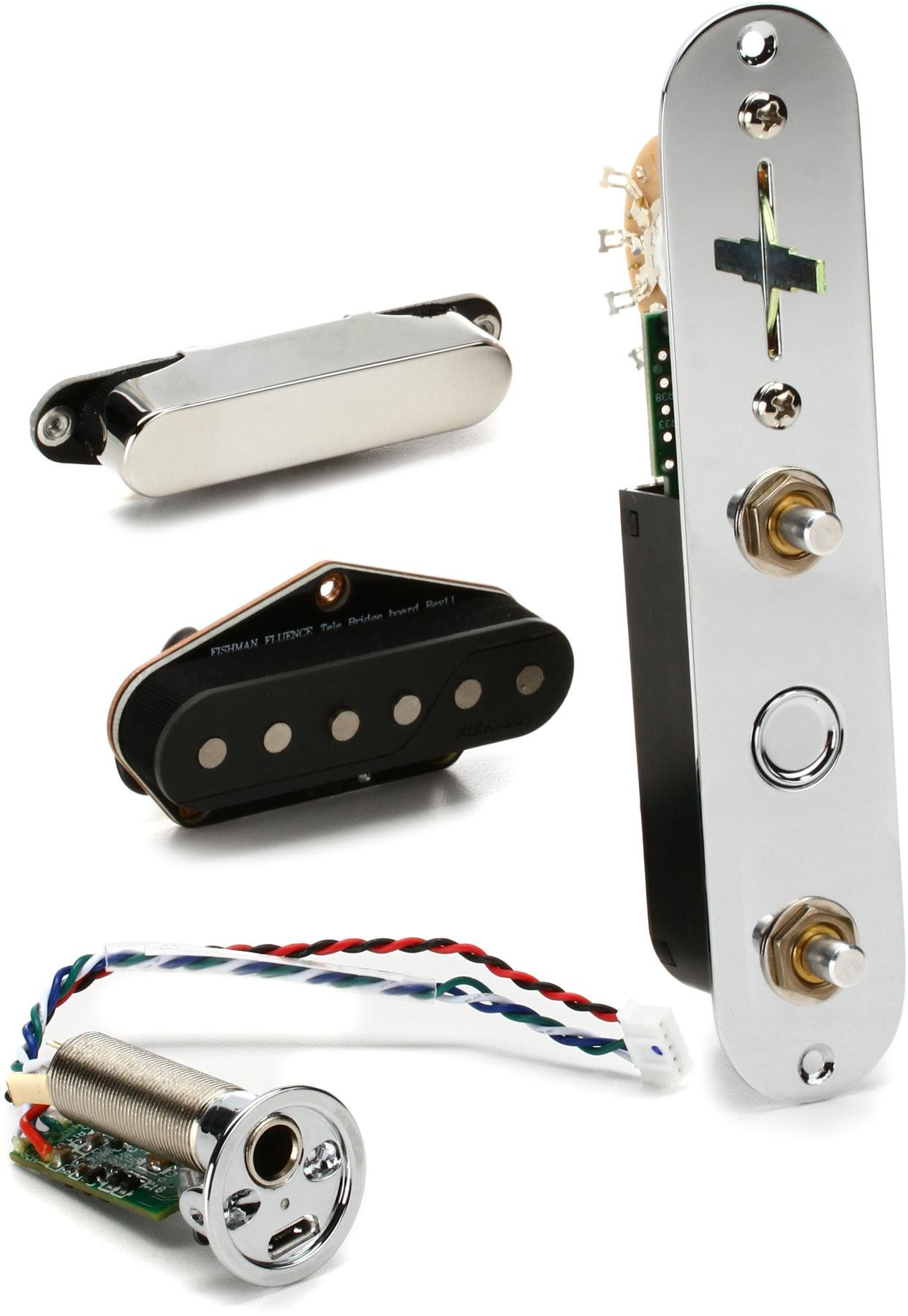 Fishman Fluence Greg Koch Gristle Tone Signature Tele Set Sweetwater Telecaster 4 Way Wiring