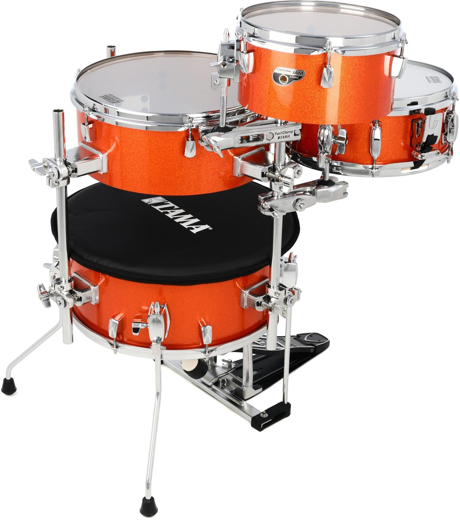 Tama Cocktail Jam 4 Piece Shell Pack With Hardware Bright Orange Mix Your Using A Keyboard Sparkle Image 1