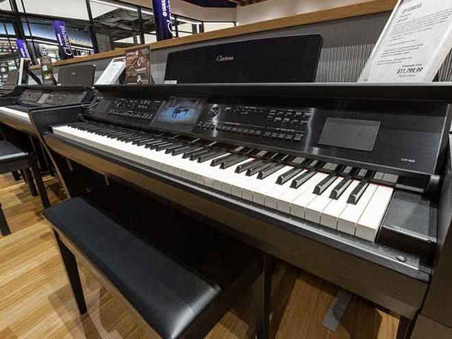 Piano Showroom At The Sweetwater Music Store