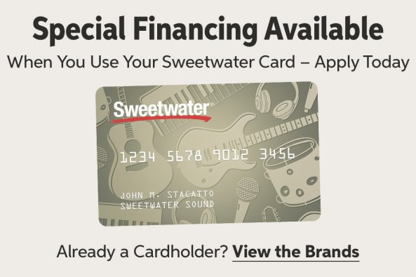 special financing when you use your sweetwater card