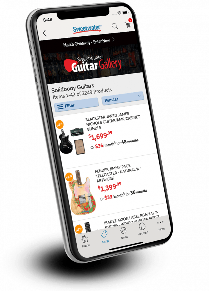 Sweetwater Mobile App | Sweetwater com