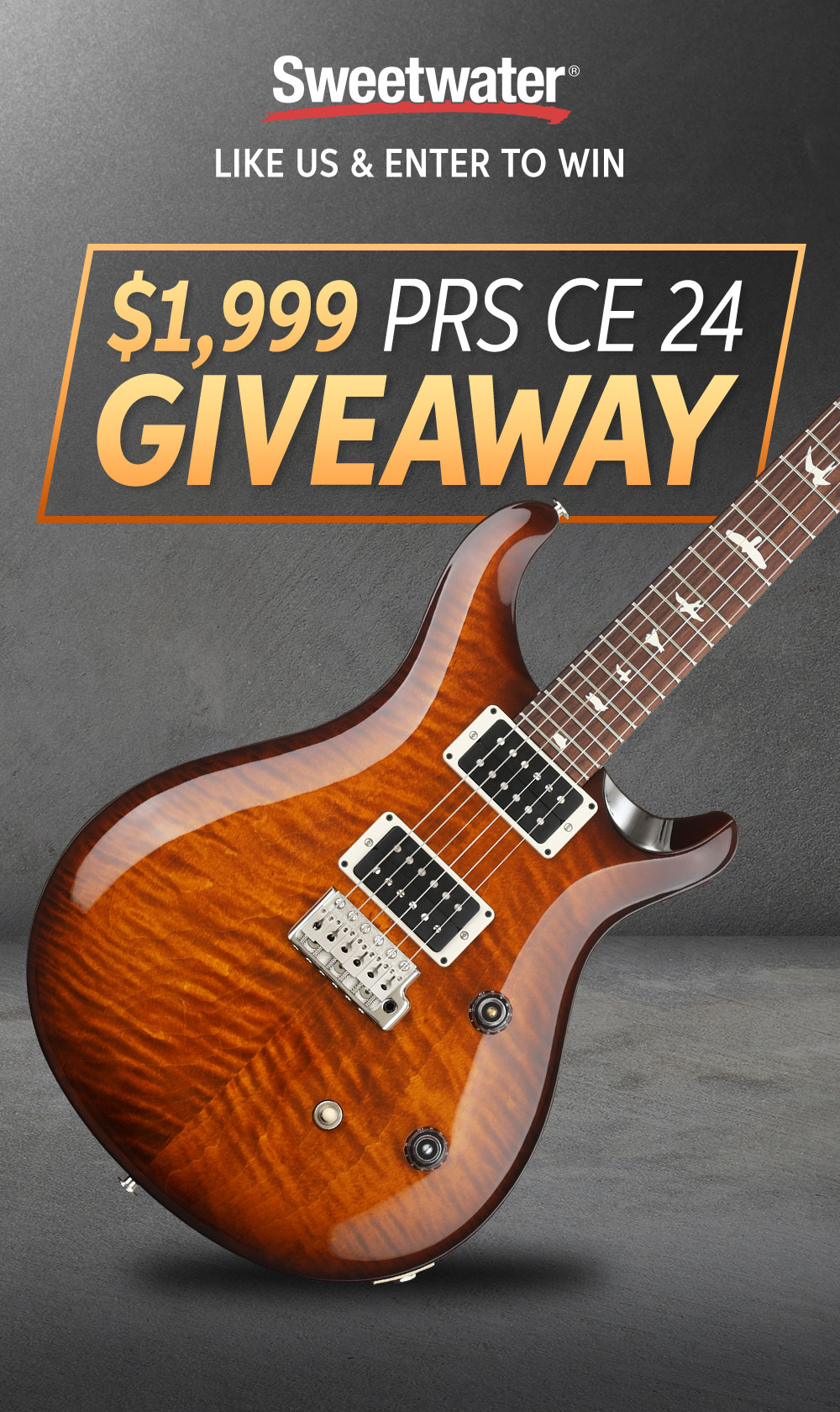 $1,999 PRS CE 24 Giveawayy! | Sweetwater com